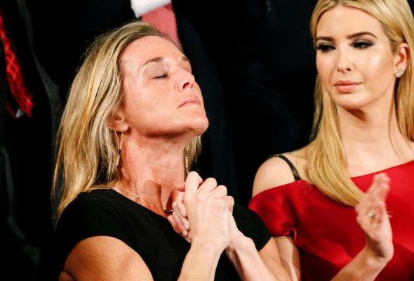 170306 POL Trump Owens Widow - The Power of Pain in American Politics