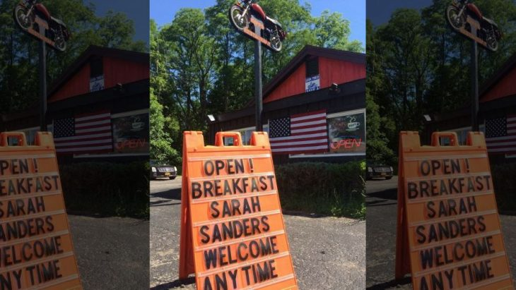 1530051735258 730x411 - 'Sarah Sanders welcome any time,' NY restaurant's sign says