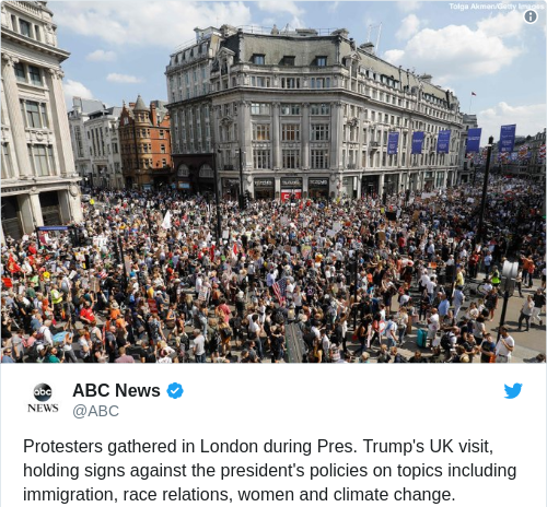 190180cac33271ac9e43fa4a0343da6f - Tens of thousands spill onto London's streets in protest of Donald Trump visit