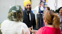 jagmeetsingh - NDP leader Jagmeet Singh visits B.C., where one of his MPs just vacated a riding