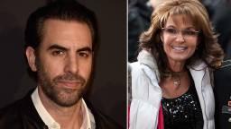 sacha baron cohen sarah palin - Sacha Baron Cohen character says Sarah Palin is 'bleeding fake news,' demands apology